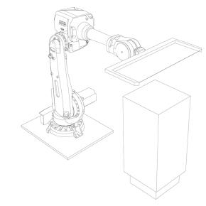 Roboter mit Draht