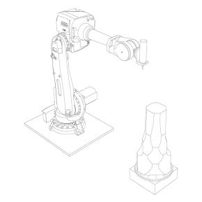 Roboter mit Fräse